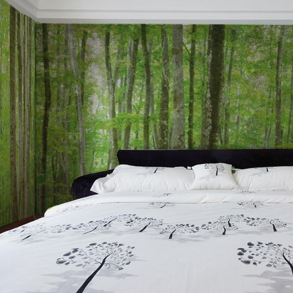 寝室 壁紙 森林の壁紙