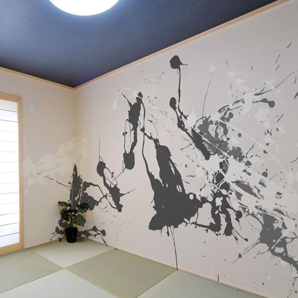 和モダン 和室壁紙