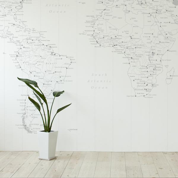 世界地図 アクセントクロス クール壁紙 おしゃれな壁紙