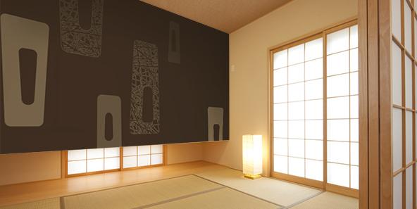 ハイソな空間を演出する和モダンの壁紙