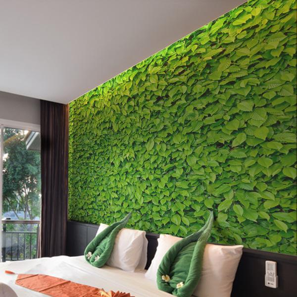 緑の葉っぱ 壁紙 インテリア グリーン