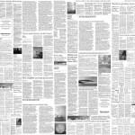 店舗に!英字新聞のデザインのクロス