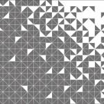 抽象柄のカラークロス