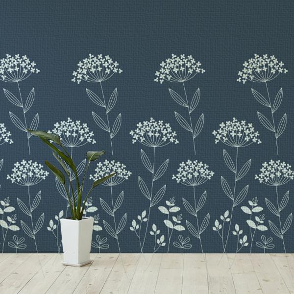北欧風の花のイラストの壁紙