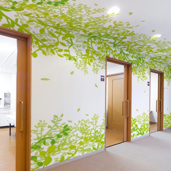 廊下に使える葉っぱの天井