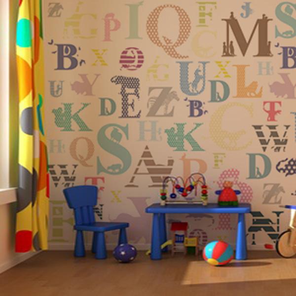 勉強になる子供部屋の壁紙