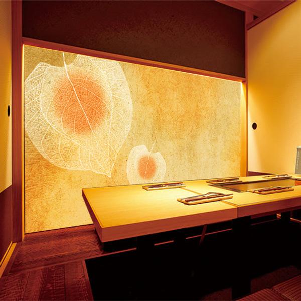 ホオヅキのイラストの和室
