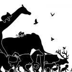 動物の行進する子供部屋