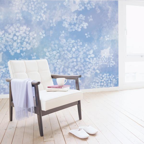 紫陽花が咲く寝室