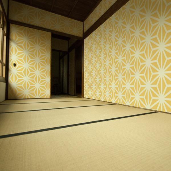 麻の葉の壁紙