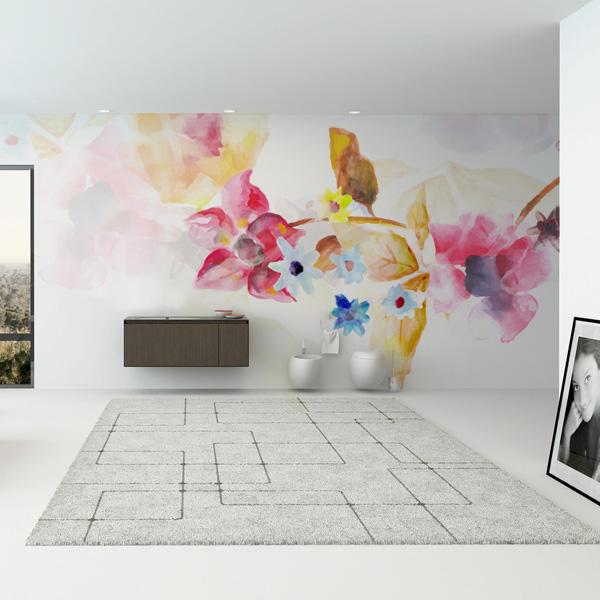 水彩画 花 壁紙 植物の壁紙