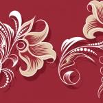 花のイラスト壁紙赤色