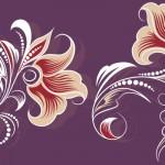 花のイラスト壁紙紫色
