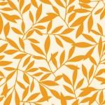 北欧風の葉っぱの壁紙オレンジ