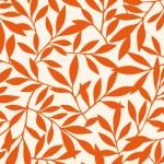 北欧風の葉っぱの壁紙レッド