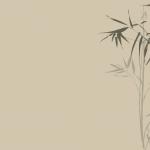 ベージュの和モダンの竹の壁紙