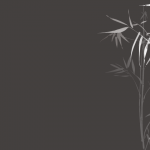 黒い和モダンの竹の壁紙