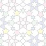 星のアラベスク柄の壁紙