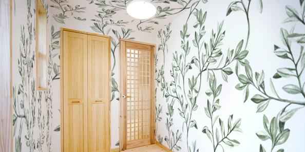 緑の葉っぱと植物の壁紙