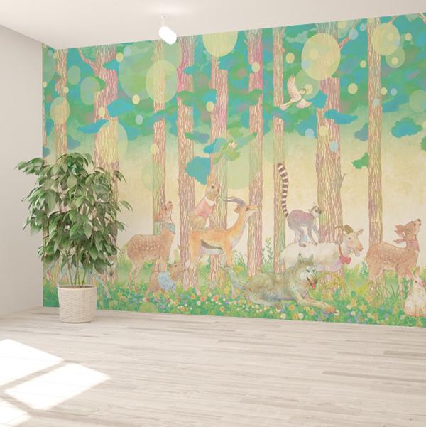 動物のイラストの壁紙