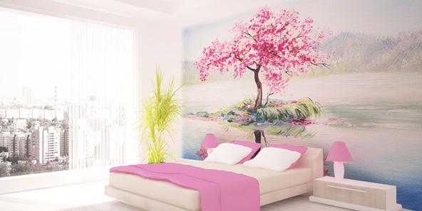 水面の桜 自然