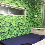 施工事例,緑,植物,寝室,壁紙