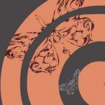 トライバルで描かれた蝶が舞うおしゃれでかわいい壁紙