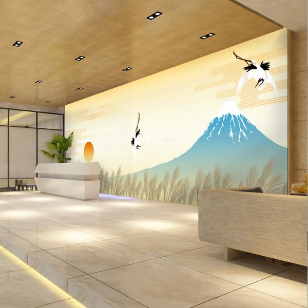 富士山の壁紙 鶴 和モダン壁紙