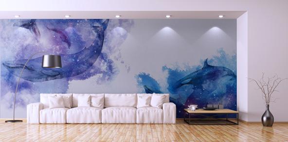 イルカとクジラの壁紙