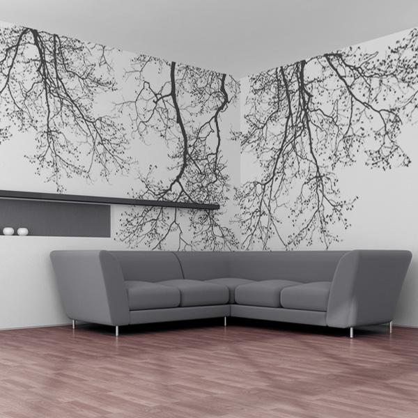 草木の壁紙 モノクローム壁紙