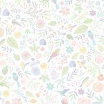 植物と鳥の壁紙