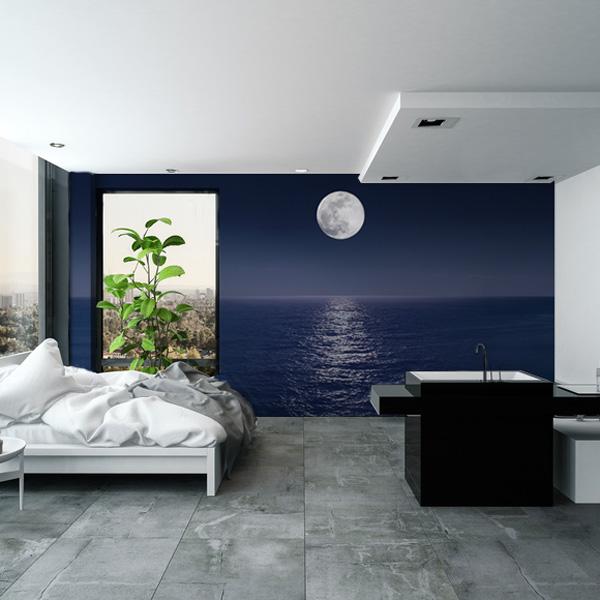 夜の海の壁紙