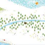 水彩の森の壁紙