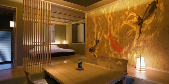 和モダンな金魚の壁紙