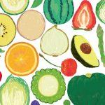 野菜のイラストの壁紙