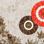 和モダンな和傘の壁紙