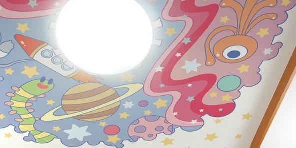 宇宙のイラストの天井