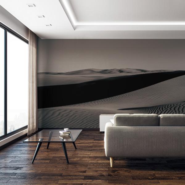 砂漠の壁紙 モノクロ壁紙
