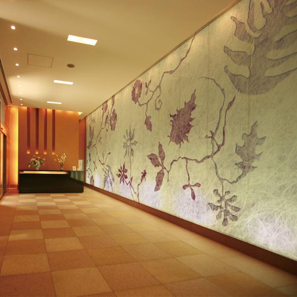 草花の壁紙 和モダン壁紙