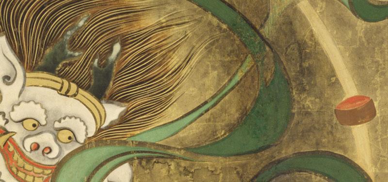 Kj 0133 風神雷神図屏風世界の名画 かべいろのデザイン かべいろ