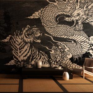 龍と虎の壁紙