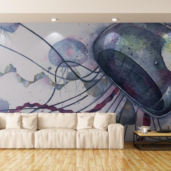 水彩のクラゲの壁紙