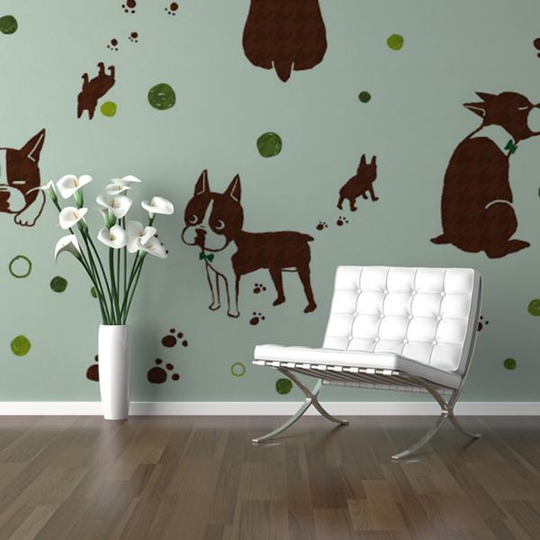 犬のイラストの壁紙