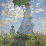 日傘を持つ女,モネ