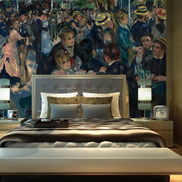 ルノワール,ムーラン・ド・ギャレットの舞踏会,有名な絵画作品,世界の名画,壁紙