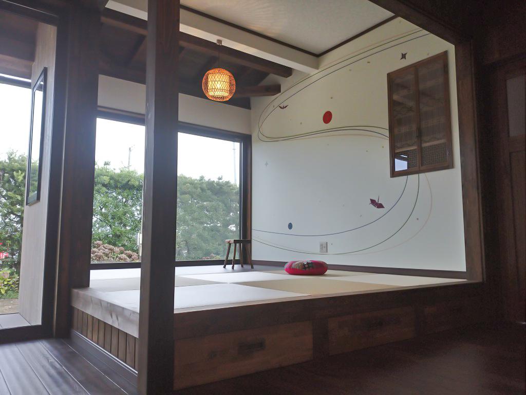 和室の壁紙施工事例