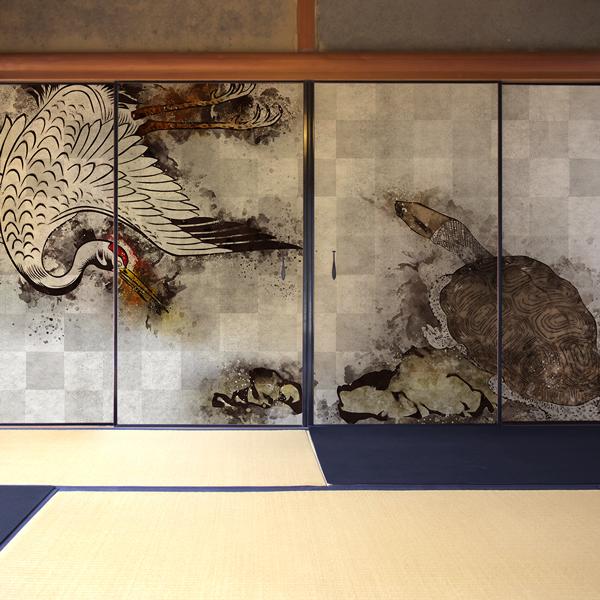 鶴と亀の壁紙